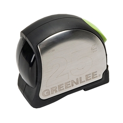 "GreenLee 0155-25A 1/"" 25 Foot Multi-Riveted Double Tang Tape Measure"