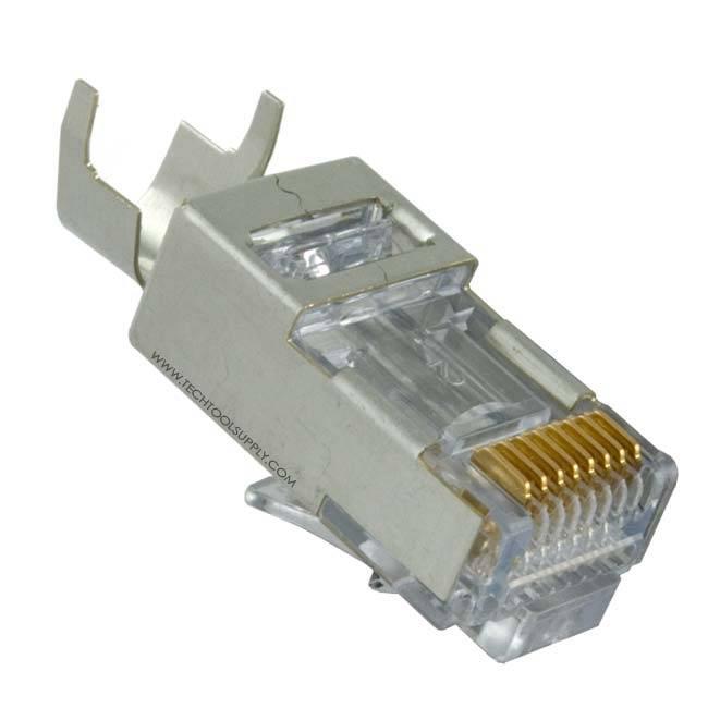 platinum tools ez rj45 shielded cat5e 6 connector ext ground 50pc